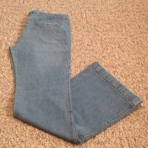 EUC Size 10 Theory Light-wash Wide Leg Jeans